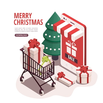 Kupowanie banerów na prezenty świąteczne