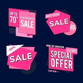 Kupuj promo sprzedaż reklam wektor zestaw