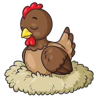 Kura śliczna kreskówka