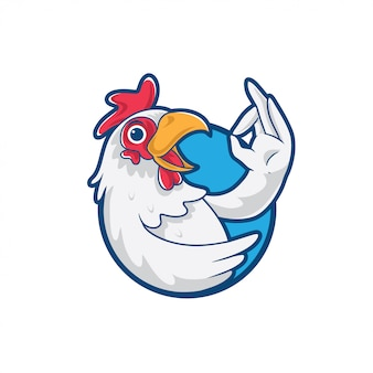 Kurczak cartoon maskotka