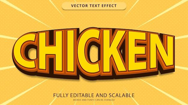 Kurczak efekt tekstowy edytowalny plik eps
