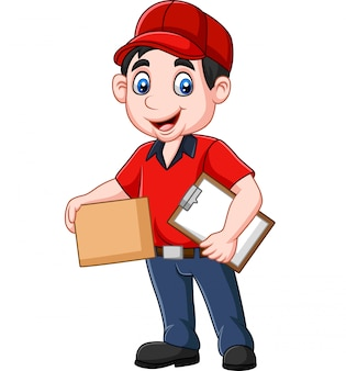 Kurier dostawy kreskówki