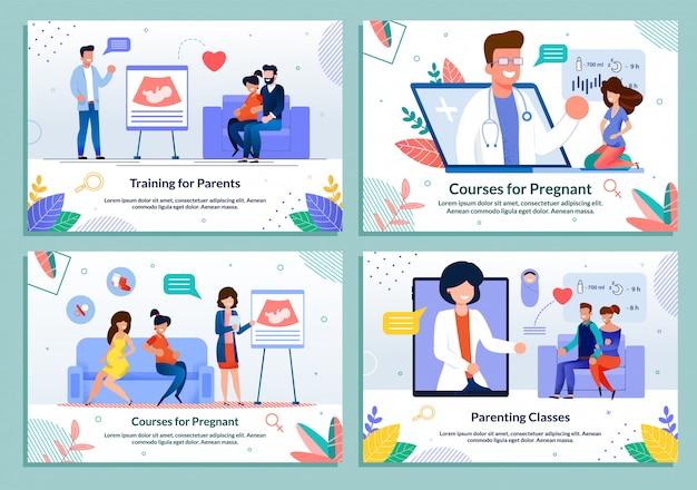 Kurs dla rodziców oczekujących zestawu szablonów porodu
