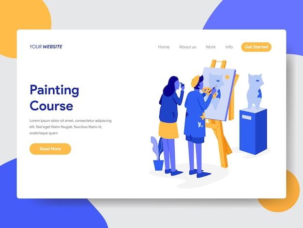 Kurs malowania ilustracja do stron internetowych