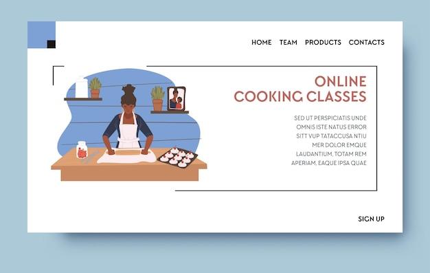 Kursy gotowania online lub samouczek lekcji