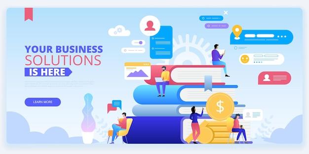 Kursy seo szablon strony docelowej e-biznesu koncepcja banera internetowego edukacja rozwoju biznesu