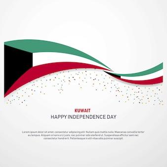 Kuwejt szczęśliwego dnia niepodległości tło