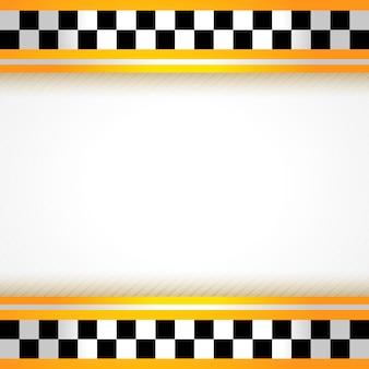 Kwadrat tło taksówki