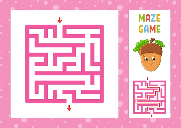 Kwadratowa gra labiryntowa dla dzieci