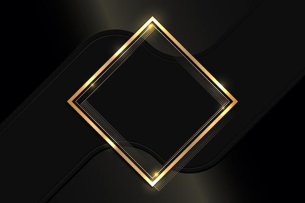 Kwadratowa, gradientowa złota luksusowa rama