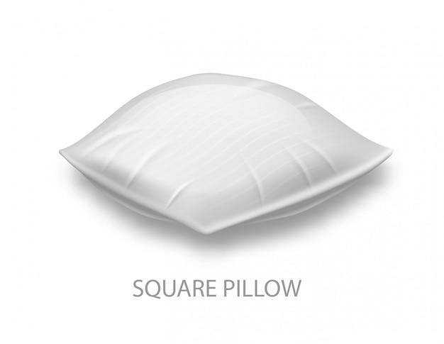 Kwadratowa poduszka na whiteerze.