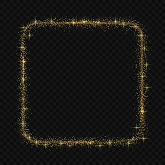 Kwadratowa rama z efektem świetlnego światła magic