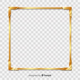 Kwadratowa Ramka Złota Premium Wektorów