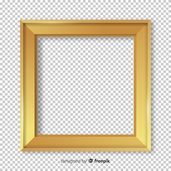 Kwadratowa realistyczna złota rama