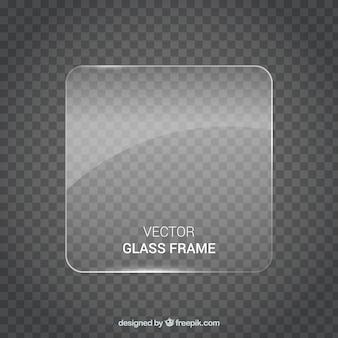 Kwadratowa szklana ramka w realistycznym stylu