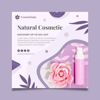 Kwadratowa ulotka kosmetyczna nowej kolekcji