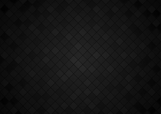 Kwadratowe kafelkowe tło w czarnych barwach