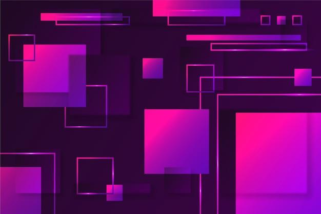 Kwadratowe kształty geometryczne na ciemnym tle