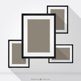 Kwadratowe ramki wektor