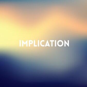 Kwadratowe rozmazane tło - kolory zachodu słońca z motywującym cytatem