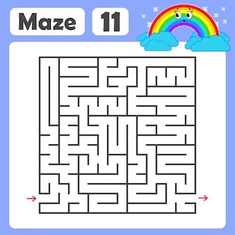 Kwadratowy labirynt dla dzieci.