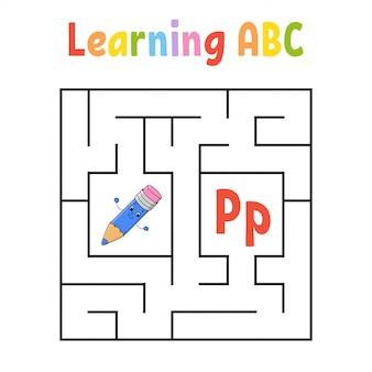 Kwadratowy labirynt. gra dla dzieci. labirynt kwadratowy.