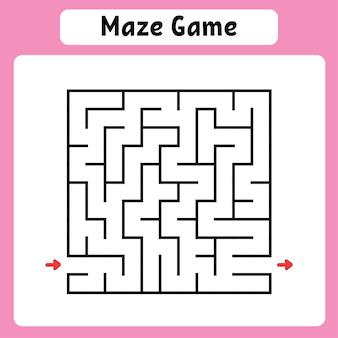 Kwadratowy labirynt gra dla dzieci puzzle dla dzieci labirynt zagadka