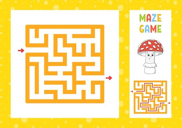 Kwadratowy labirynt gra dla dzieci puzzle dla dzieci