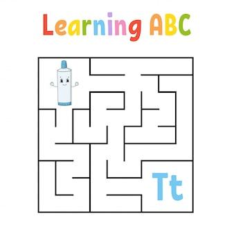 Kwadratowy labirynt. gra dla dzieci.