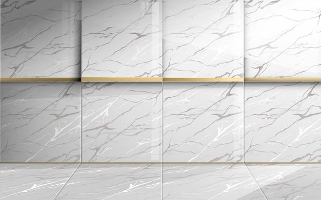 Kwadratowy marmur o złotej fakturze. streszczenie luksusowe tło.