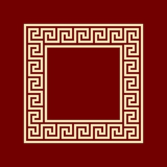 Kwadratowy meander wzór kwadratu