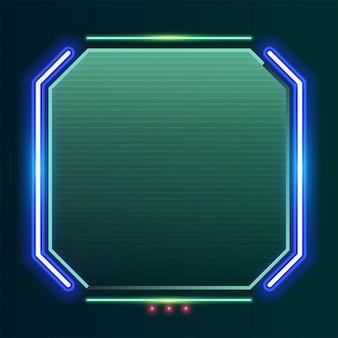 Kwadratowy neonowy sztandar