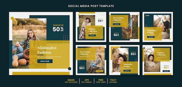 Kwadratowy post w mediach społecznościowych lub koncepcja projektu szablonu banera internetowego