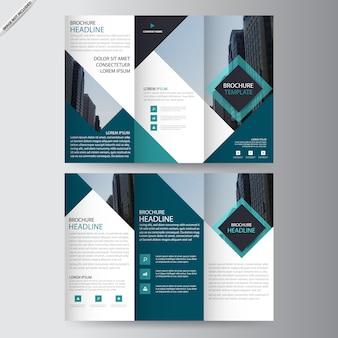 Kwadratowy tri-fold, trzykrotnie szablon broszury