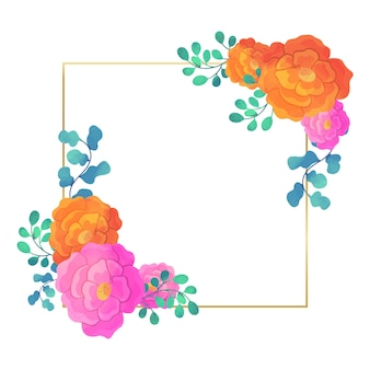 Kwadratowy wzór kwiatowy wesele