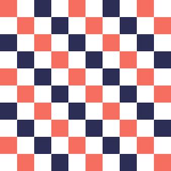 Kwadratowy wzór w kolorze living coral. streszczenie tło geometryczne. kolor roku 2019. luksusowa i elegancka ilustracja w stylu