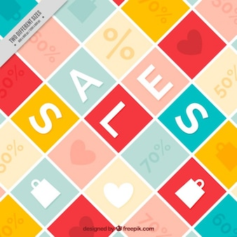 Kwadraty sale background