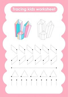 Kwarc - arkusz ćwiczeń do pisania i rysowania linii trasowania dla dzieci
