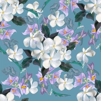 Kwiat bezszwowy wzór z kwiatem