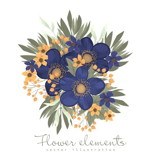 Kwiat clipartów niebieski