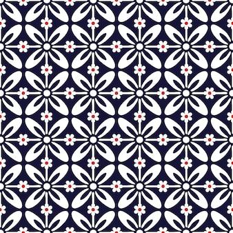 Kwiat geometryczny w wektor wzór wydruku.