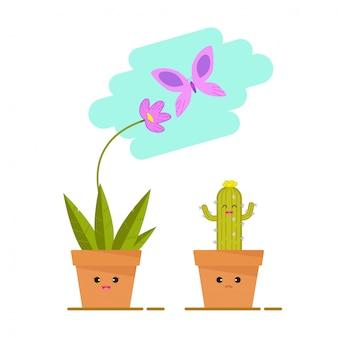 Kwiat i kaktus