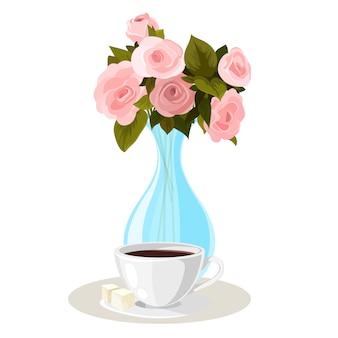 Kwiat karty z pozdrowieniami tła