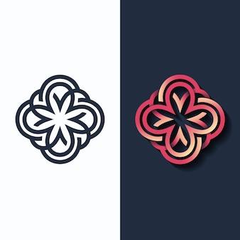 Kwiat, kształt wielokolorowy i monochromatyczny.