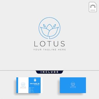 Kwiat kwiatowy linia premium premium proste logo szablon