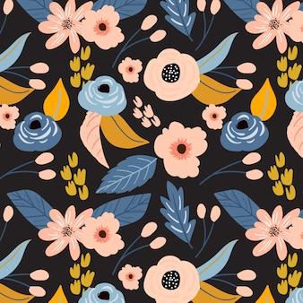 Kwiat kwiatowy wzór wydruku tła
