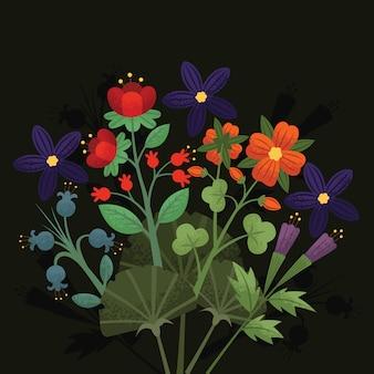 Kwiat kwiatowy ziarna cieniowania tła