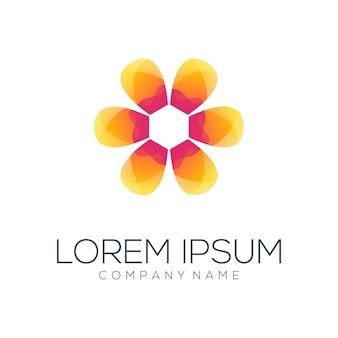 Kwiat logo projekt wektor streszczenie