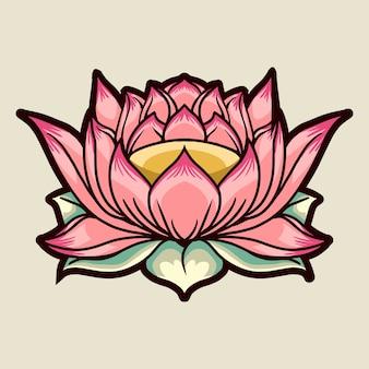 Kwiat lotosu na jasnym tle