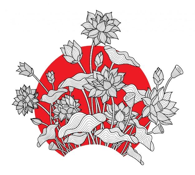 Kwiat lotosu prosty